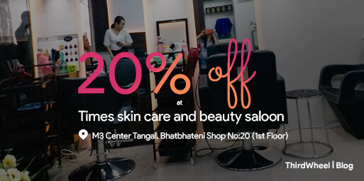 ThirdWheel be friend with Times Skin Care & Beauty Saloon