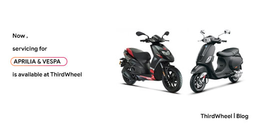Aprilia and Vespa are now available at THIRDWHEEL