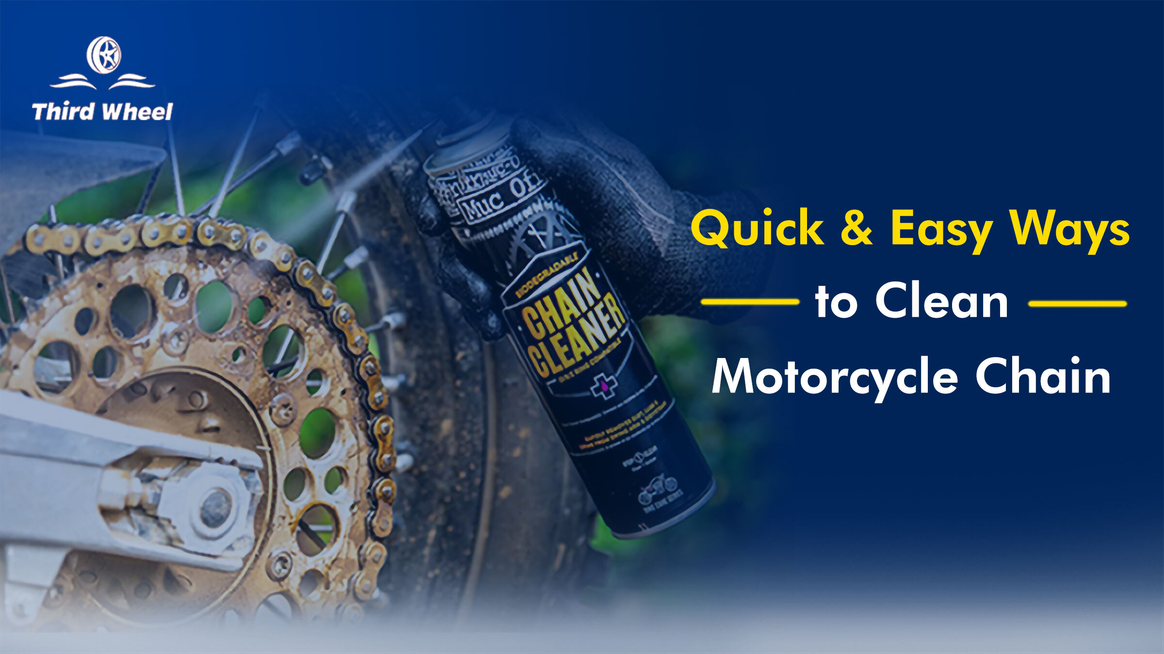 Simple & Quick steps to Clean your Motorcycle Chain at Home